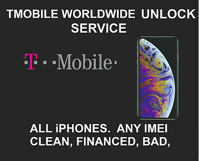 T Mobile Unlock Service for iPhone 11 11 PRO MAX XS MAX XS XR X 8 7 6 ANY IMEI