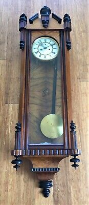 Nice Walnut Cased Double Weight Vienna Wall Clock