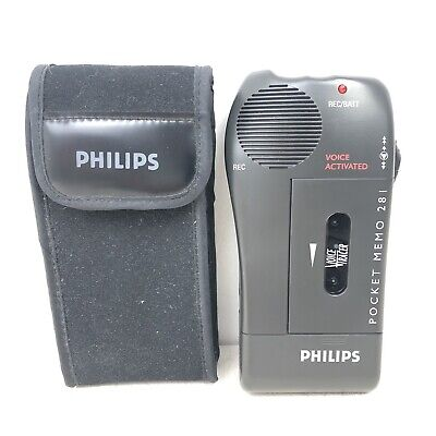 Philips 281 Mini Cassette Pocket Memo Dictaphone Fully Working VGC