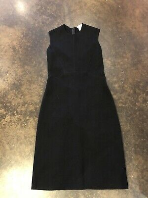 Oscar De La Renta Black 3-4 Ply Cashmere Dress XS