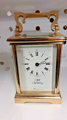 Brass Carriage Clock with L'Epee superb quality movement