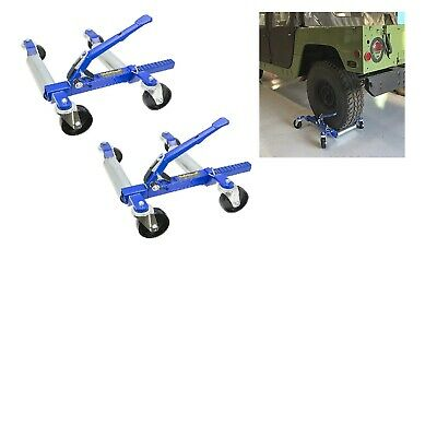 "1500 LB 12.5"" Wheel Car Positioning Dolly with Ratcheting Foot Pedal (2 PACK"
