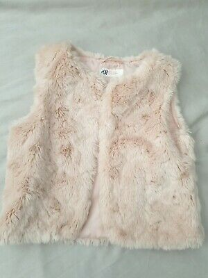 H&M US 6-7yrs Pink Fluffy Gilet