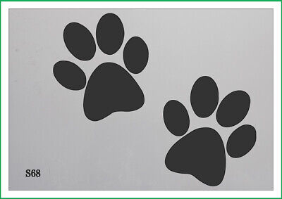 Dogs Leave paw Prints on Your Heart A5 A4 A3  Mylar Reusable Stencil Airbrush