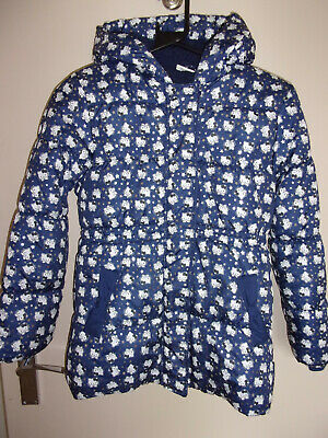 HELLO KITTY GIRLS AGE 9-10yrs PADDED COAT Blue with silver stars ex.con.