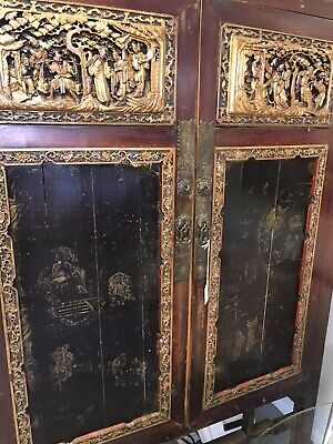 Antique Circa 19th Century Hand Carved Chinese Cabinet ~ PICK UP FL 33062