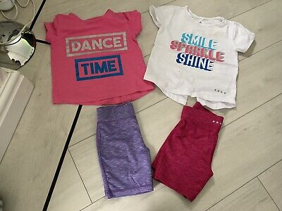 Girls Gym/dance Clothing Shorts & Top Age 4/5 Years Vgc