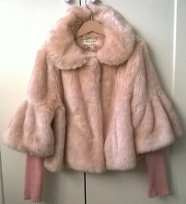 Twin-Set Simona Barbieri Fake Fur Pink Child Female / Pelliccia Rosa Bambina