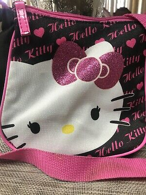 Hello Kitty Pink Tote Canvas Bag with Straps Waving Sanrio