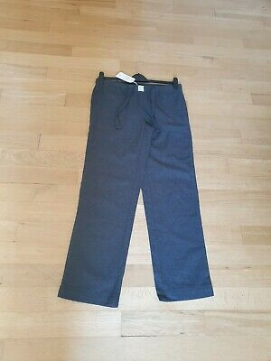 New Jack Wills Grey Flannel Ladys Longing Pants Size 10 RRP £39.95