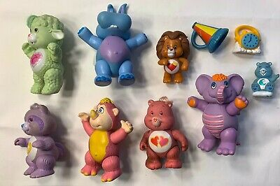 Vintage Care Bears Poseable Figures Lot 1984 Gummi Wuzzles kenner Disney Cousins