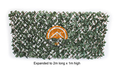Quality Artificial Ivy Maple Leaf Willow Trellis Expandable Hedge Screening 1X2M