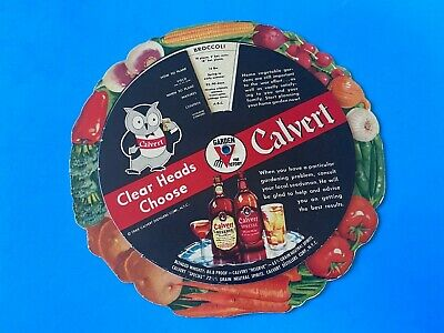 Vintage 1945 Calvert Whiskey Circle Spinning GARDEN GUIDE mint condition