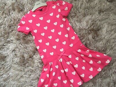 Baby Toddler GAP 4-5 Y 100% Cotton Pink Beige Heart Tunic Dress VGC Combine Post