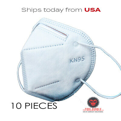 KN 95 Masks 10 Piece Pack of 5 Ply thick  Disposable face coverings KN95