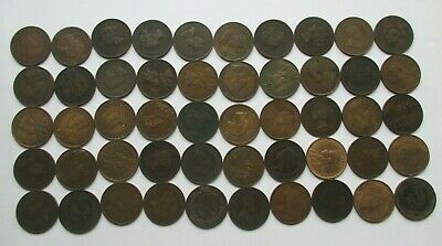 Lot Of (50) Canadian Large Cents (29 Different Dates Included In Lot)