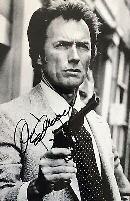 Clint Eastwood Authentic Signed Dirty Harry 12X8 Photo Aftal#198