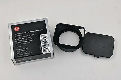 LEICA SUMICRON 35mm REPLACEMENT LENS HOOD BLACK #12470 SCREW ON.