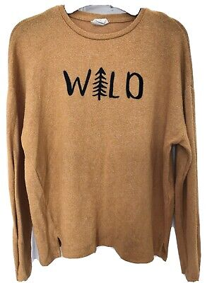 Girls Mustard Jumper By Zara Kids Collection Aged 10 Years 140Cm Wild Logo