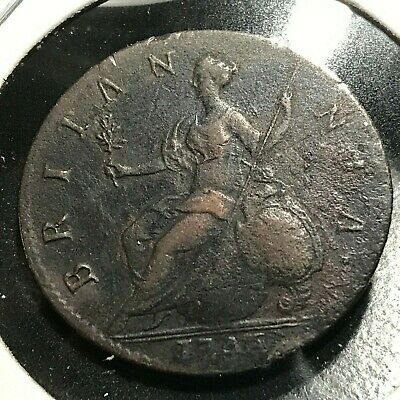 1746 Great Britain 1/2 Penny Very Nice Coin