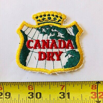 VINTAGE patch Canada Dry Ginger Ale soda pop 1960's or early 1970's only one OG