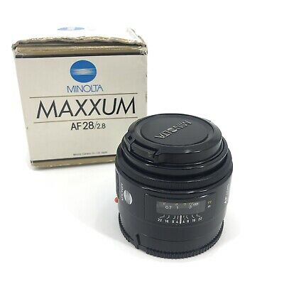 Minolta AF Maxxum 28mm F2.8 Lens 28/2.8 Sony A Mount In Box