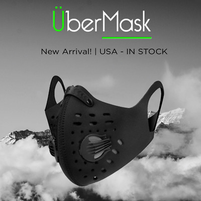 Dust Sport Mask with Filter Valve for Outdoor Sport Cycling Adjustable Washable