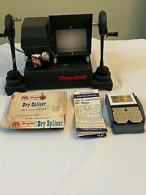 Vtg 8mm Film Editor Mansfield Reporter Model 650 Dry Splicer Works USA