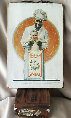"VTG 1922 Cream of Wheat Black Americana ""WHERE HEALTHY BABIES COME FROM""Wall Art"