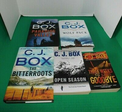 Lot Of 5 C. J. Box*Open Season*Wolf Pack*Paradise Valley*The Bitterroots