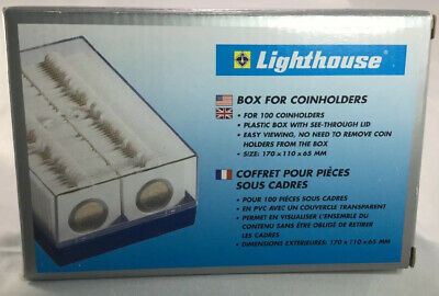 """Lighthouse Plastic Box For 2"""" x 2"""""""