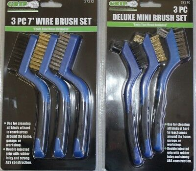 "Brush Set 6 piece wire 7"" mini #15006"
