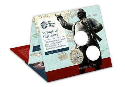 2020 Captain Cook BUNC UK £2 250 Anniversary Coin in Royal Mint Sealed Pack