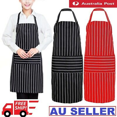 Womens Mens Chef Kitchen Restaurant Cooking Bib Apron Dress Gift with 2 Pockets