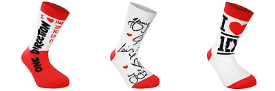 THREE PAIRS OF ONE DIRECTION COTTON RICH ANKLE SOCKS UK Size 4 - 6.5  BRAND NEW