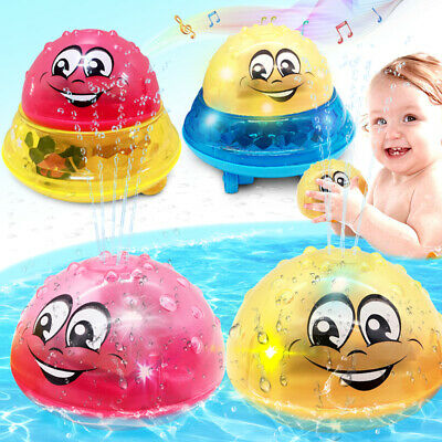 Bath Toys Spray Water Light For Kids Baby Electric Sprinkler Swimming Toy