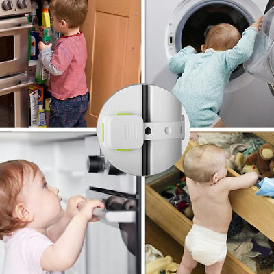 Child Baby Cupboard Cabinet Safety Locks Pets Proofing Door Drawer Fridge