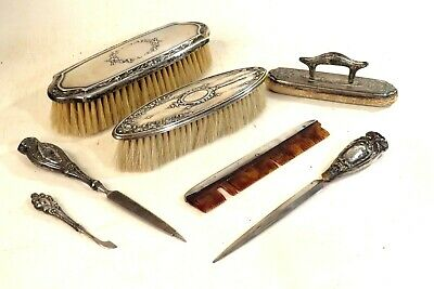 Antique1860's STERLING SILVER VANITY Set WEBSTER WALLACE HUKIN HEATH SIMPSON