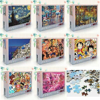 DIY 1000 Piece Mini Jigsaw Starry Night Aegean Sea Landscapes Puzzles Adult Toy