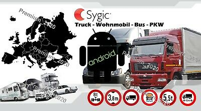 Sygic Prof 20.0.2 Truck - WoMo - Bus - PKW - Europa 2020 - Navigation - Download