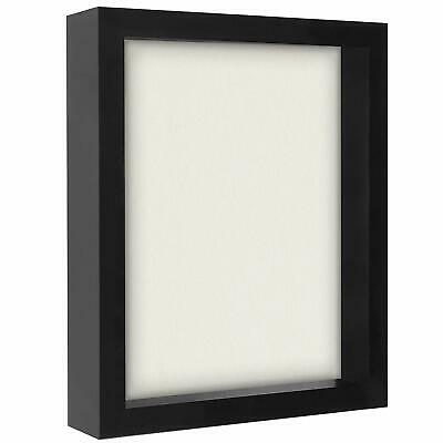 Americanflat 8.5x11 Document Shadow Box Frame, Black