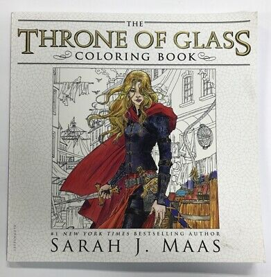 The Throne of Glass Coloring Book by Sarah J Maas 9781681193519 | Brand New
