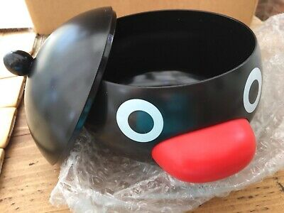 Rare PINGU Japanese BOWL w/ LID Children's PENGUIN Toy From JAPAN Noot Noot NIB