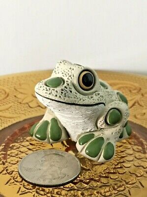 Coad Peru Frog Pottery Sculpture Figurine Lucky Clay Baked Enamel Good Luck NEW
