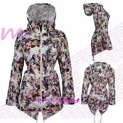 NEW KIDS GIRLS RAIN MAC FLORAL PARKA FISHTAIL Festival RAINCOATS size