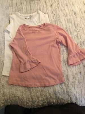 BNWT Outfit Girls White/pink Top Age 7 Years