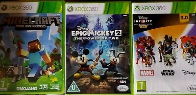 Xbox 360 Games  Bundle For Children  2 Disney Games & Minecraft - Great Games Fo