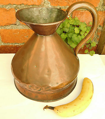 Antique copper jug measure gallon with lead seal harvest jug cider Bristol