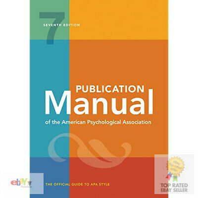 Publication Manual of the American Psychological Association: 7th Edition, 2020