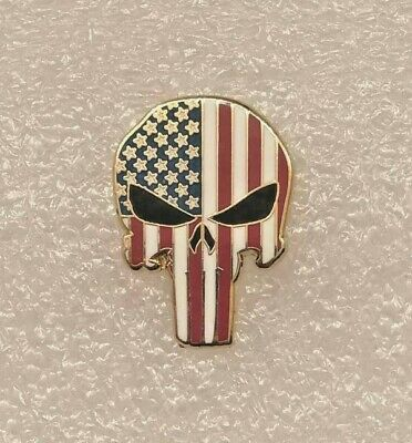 Punisher Skull Shield Tactical Military Combat Law Enforcement Pin